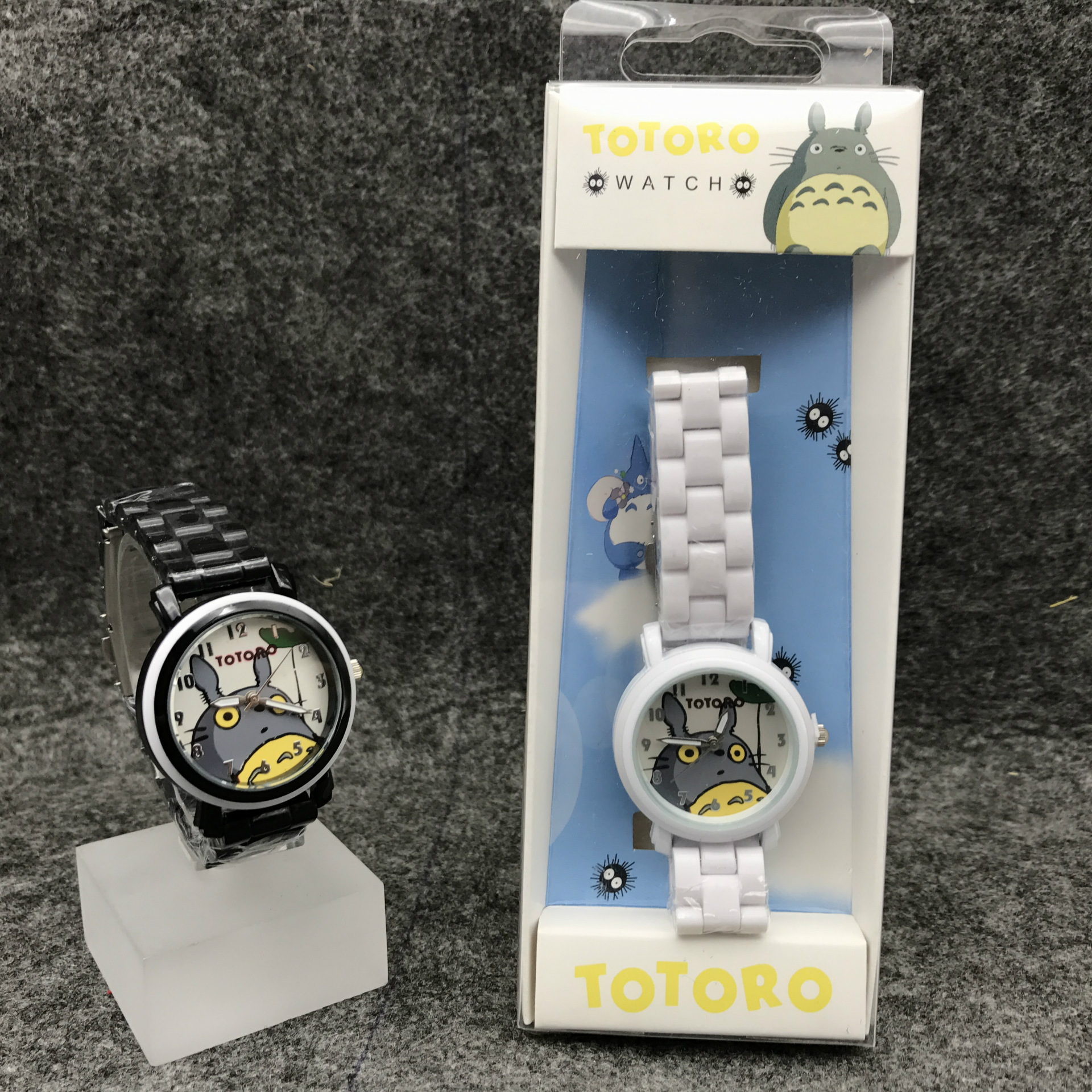 Cute Cartoon Totoro Children's Watch Imitation Ceramic Strap Cartoon Children's Watch Student Boy Girl Waterproof Watch