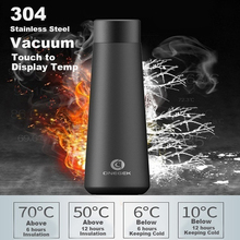 Intelligent Temperature Display Vacuum Insulated Water Bottle,Leak Proof,Stainless Steel Thermos Smart Bottle with Reminder smart cup intelligent water bottle 304 double layer stainless steel led display temperature 500ml