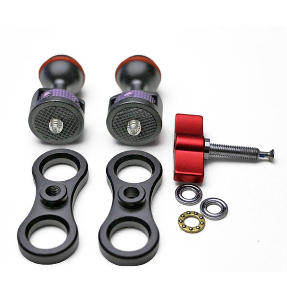 Универсальный карданный шарнир для скалолазания, вращающийся держатель, для путешествий, волшебная рукоятка, для улицы, легкая установка, кронштейн для камеры, регулируемый для SLR A37 - Цвет: Red