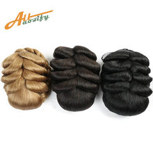 Allaosify Women Curly Chignon Hair Clip In Hairpiece Extensions Bun for Brides Synthetic Braided Chignon High Temperature Fiber(China)