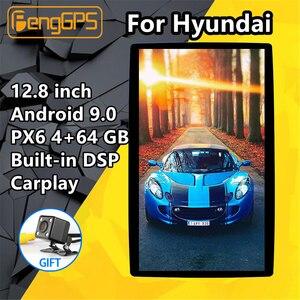 2 Din universal Car Multimedia Player For HYUNDAI IX25 IX35 I10 I20 Sonata I30 H-1 IX45 Android PX6 Tesla Audio Radio Stereo GPS