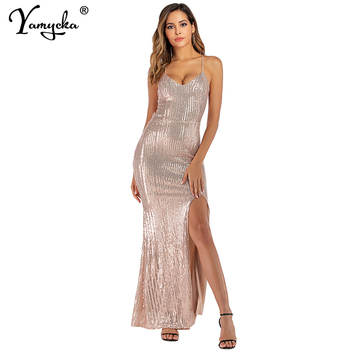 sexy elegant Sequins summer Dress women Backless wrap bandage party long dress woman bodycon black club ladies Dresses vestidos sexy plus size sequins summer dress women fashion off shoulder bodycon party dress elegant night club dresses midi vestidos new