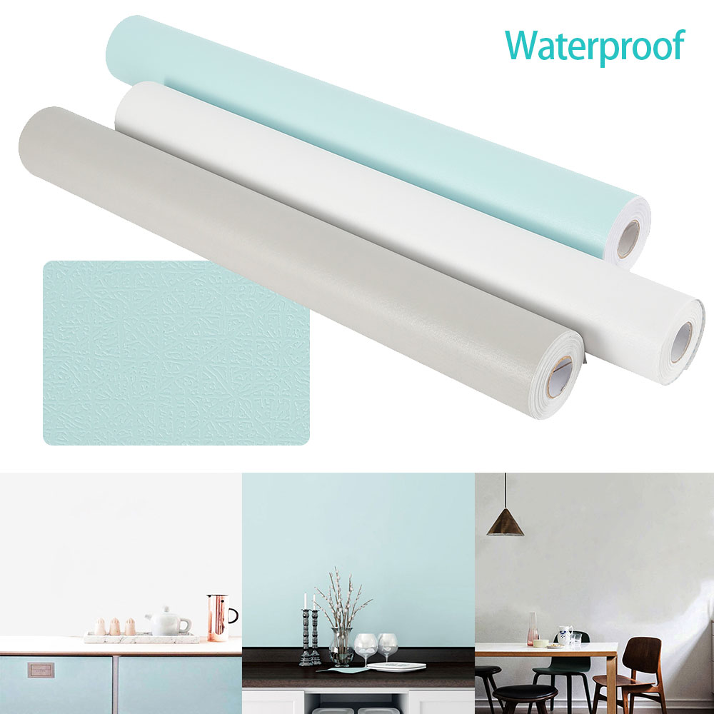 10M/Roll Self Adhesive Wall Paper Waterproof PVC Roll Furniture Decorative Wall Stickers For Kitchen Backsplash Home Decor