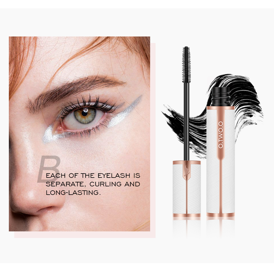 O.TWO.O Mascara Waterproof 4D Silk Fiber Curling Volume Lashes Thick Lengthening  Nourish Eyelash Extension High Quality Makeup