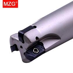 MZG EXN03R CNC Fast Feeding Lathe Machining Alloy End Mill Shank LNMU Double Side Carbide Insert Milling Cutter