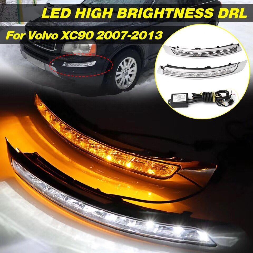 DRL LED Daytime Running Fog Light Turn Signal For Toyota Highlander 2012 2013