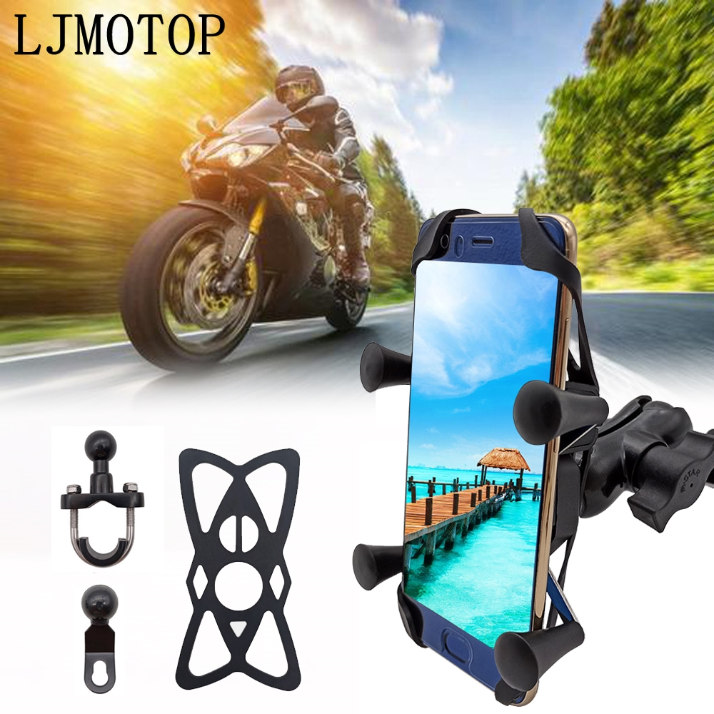 Chargeable Motorcycle <font><b>GPS</b></font> Phone holder Wired USB Universal Mount <font><b>For</b></font> YAMAHA YZF R3 YBR 125 YZF R15 XT660/X/R/Z TMAX 500/<font><b>530</b></font> image