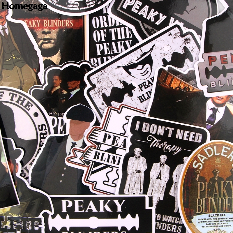 Homegaga 18Pcs/set TV Show Peaky Blinders Stickers Cool Scrapbooking Stickers Refrigerator Luggage Laptop Stickers Decals D2561