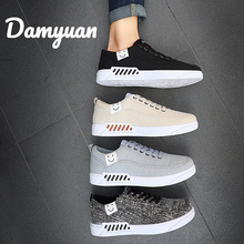 Damyuan 2019 New Fashion Autumn Men Shoes Women Casual Mens Designer Sneakers Flax Canvas for
