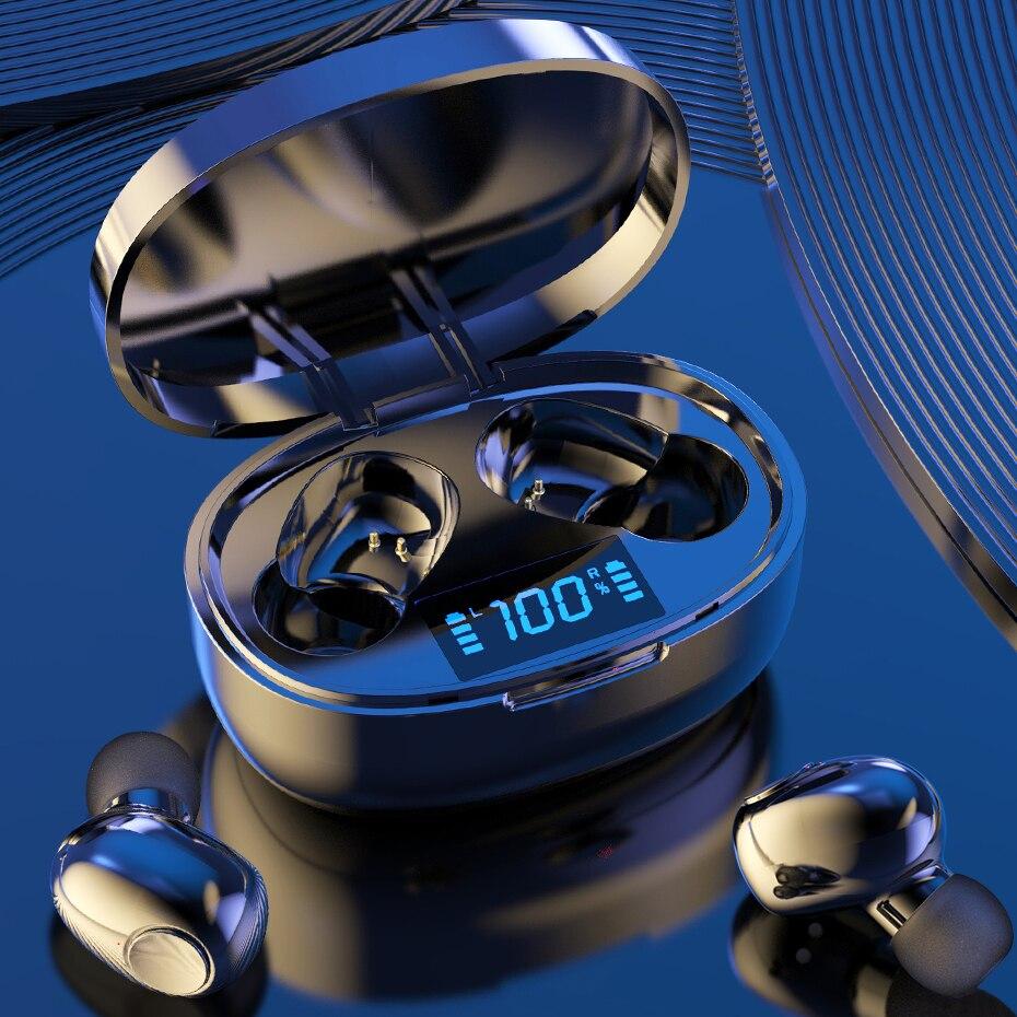Bezprzewodowa słuchawka z mikrofonem Bluetooth sport wodoodporne słuchawki bezprzewodowe słuchawki z LED wyświetlacz mocy słuchawki douszne
