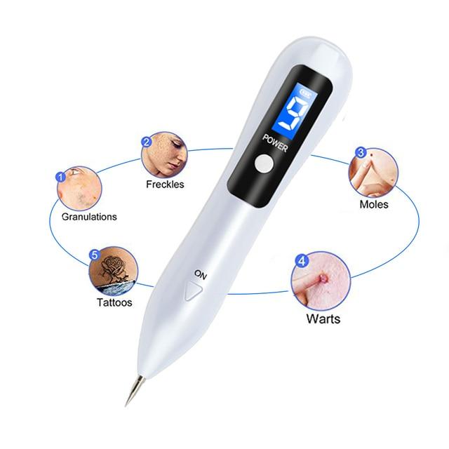 Biomaser LCD Hautpflege Punkt Stift Dark Spot Maulwurf Entferner Tattoo Entferner Maschine Haut Tag Entfernung Spot Reiniger