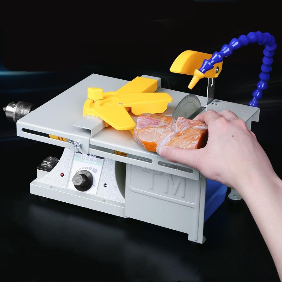 850W Multifunction Mini Table Saw Stone Polisher Jade Engraving Machine Grinding Machine Table Saws Jade Cutting Machine 220V