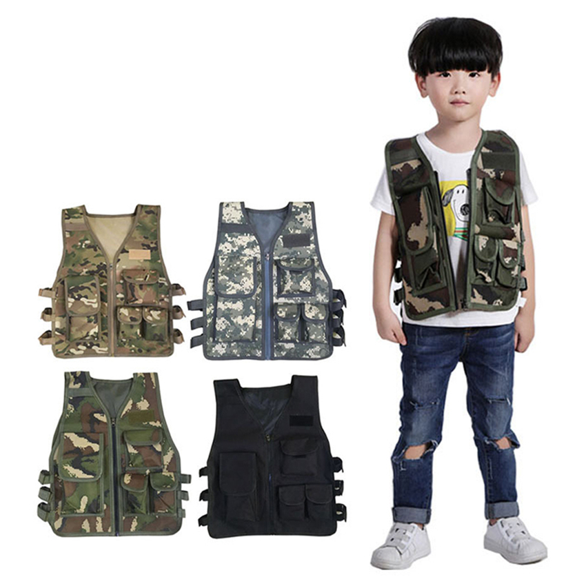 Kids Army Tactical Costumes Combat Bulletproof Vest Level3 Military Uniform Camouflage Special Forces For Boys Clothing