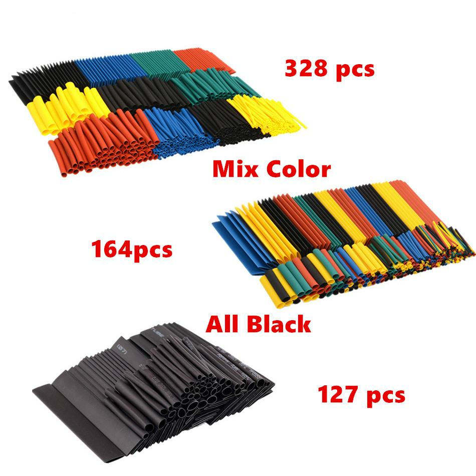 Shrinking 328Pcs Insulation Sleeving Thermal Casing Car Electrical Cable Tube kits Heat Shrink Tube Tubing Wrap Sleeve Assorted