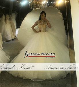 Image 5 - Full beading top body elegant wedding dress handmade high quality bridal dress 2020