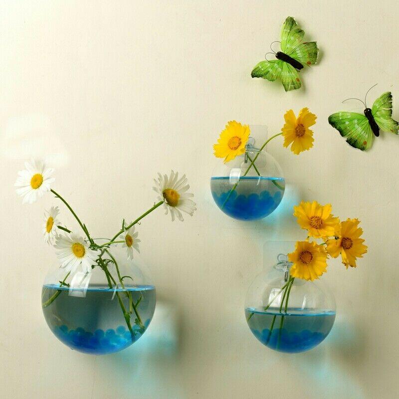 Flower Planter Pots Wall Fish Tank Aquarium Container Homw Decor Terrarium Ball Globe Shape Clear Hanging Glass Vase