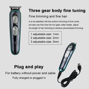 Image 4 - Maszynka do włosów fryzjer maszynka do włosów s elektryczny wielofunkcyjny zestaw domowy Salon fryzjerski dedykowany Push USB ładowanie maszynka do włosów