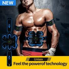 EMS тренажер для мышц электронный стимулятор мышц пояс перезаряжаемый массажер для тела AB тренажер для мышц стимулятор фитнес-массажер