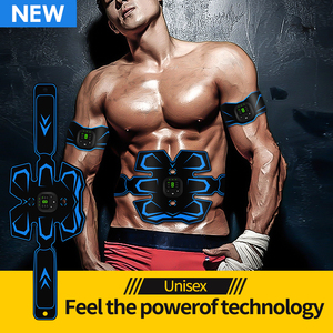 EMS Muscle Trainer Electronic Muscle Stimulator Belt Rechargeable Body Massager AB Muscle Trainer Stimulator Fitness Massager