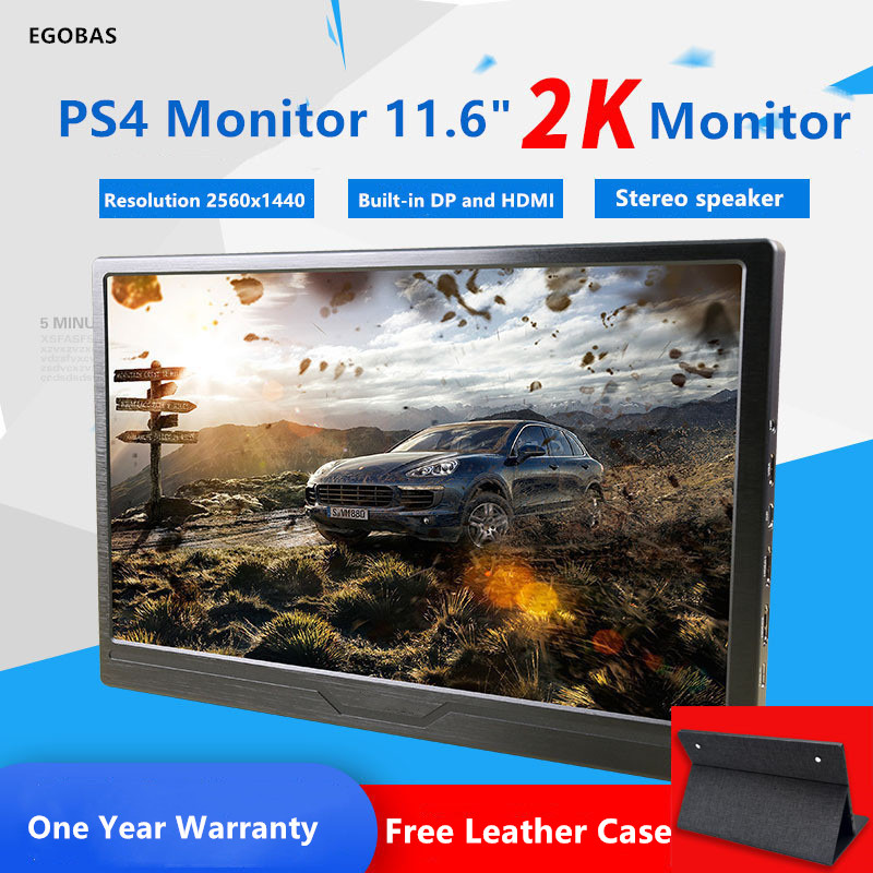 11.6 pouces batterie intégrée moniteur de jeu Portable 2K 2560*1440 LED LCD affiche PS3/4 Xbox360 tablette affichage IPS pleine vue