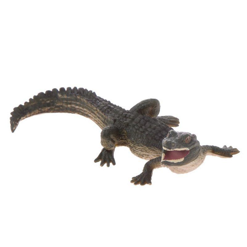 Realistic Reptile Crocodile Model Action Figure Decorative Collectibles - S