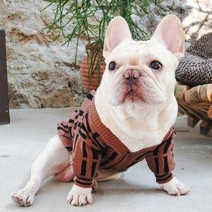 Outono inverno pet cachorro camisola para cães pequenos bulldog francês vestuário pug quente traje filhote de cachorro produto pc1379
