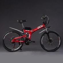 NO TAX 1000W 20Ah Electric Bike Folding Electric Commuting Bike Mountain Bike 26inch 21 Speed Shimano Gears Ebike Free Shipping
