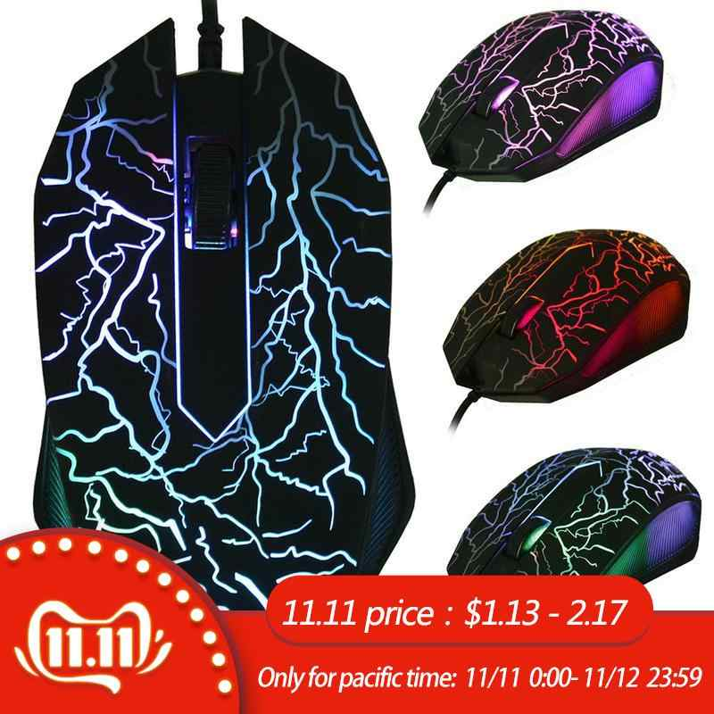 3D USB Wired Game Mouse Mouse LED Optical 7 Tombol Pro Gamer Komputer Tikus untuk PC Desktop Laptop Disesuaikan Game mouse