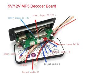 Image 4 - 5V/12V MP3 Decoder Board Player With Display Dual Channel Without Power Amplifier Remote Control FM Power Off Memory