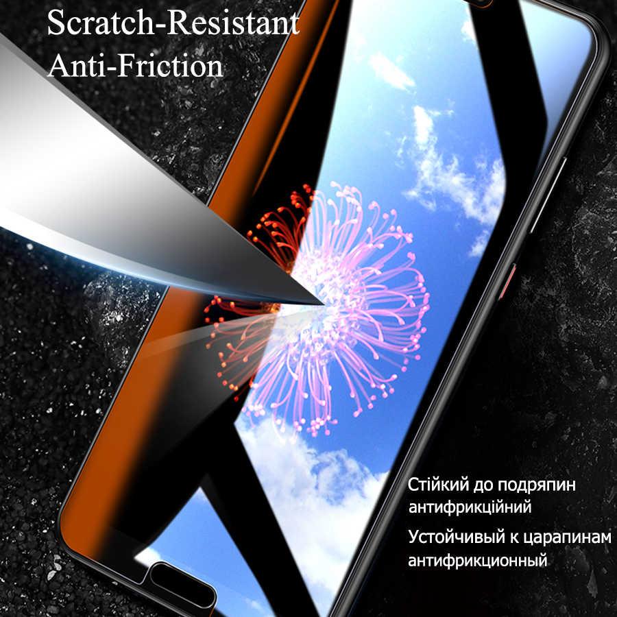 3 Pcs Melengkung Anti Gores untuk Huawei P20 Lite Screen Protector untuk Huawei Y6 2019 P Smart 2018 Z Mate 20 Pro P20 P30 Lite Kaca
