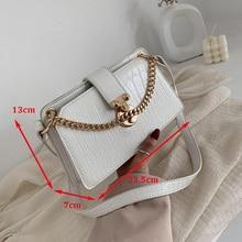 цена на Elegant Female Mini Tote bag 2020 New Quality Leather Women's Designer Handbag Crocodile pattern Chain Shoulder Messenger Bag