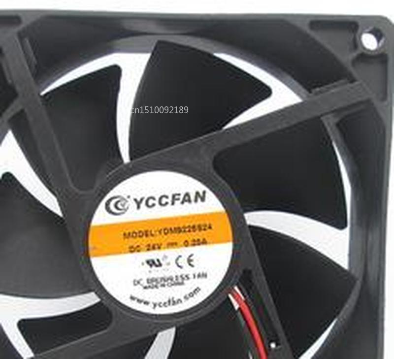 For YCCFAN YDM9225S24 92*92*25MM 9CM 24V 0.20A Cooling Fan Free Shipping