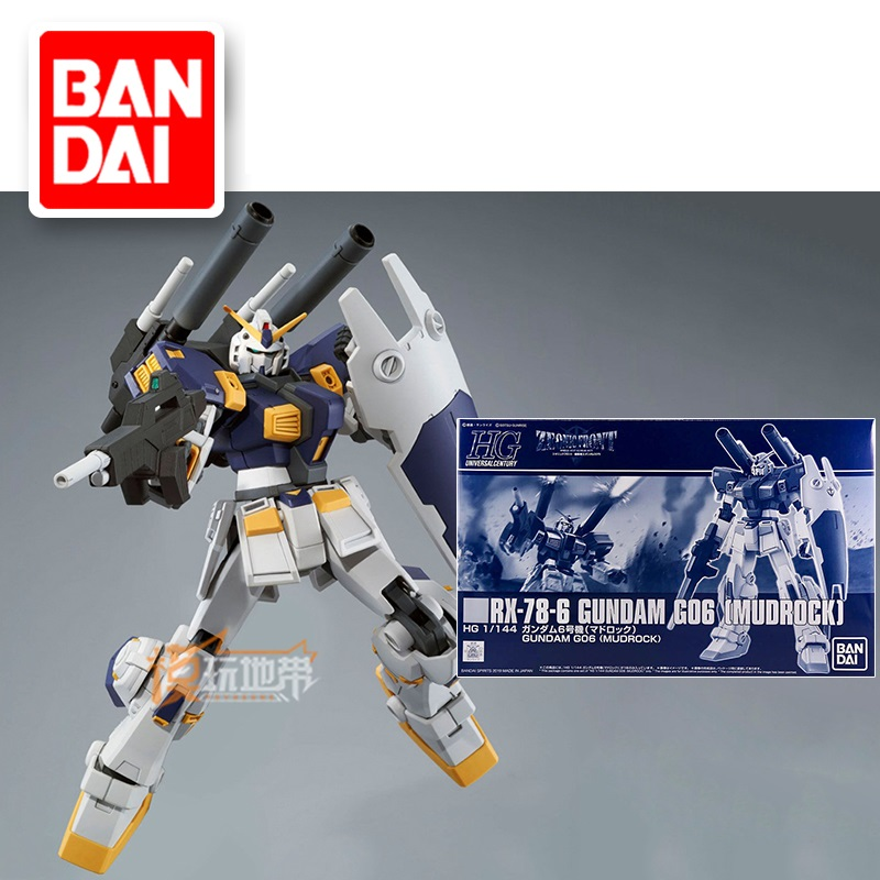 Original Japaness Gundam Model HG 1/144 GUNDAM G06 RX-78-6 MUDROCK Mobile Suit Kids Toys