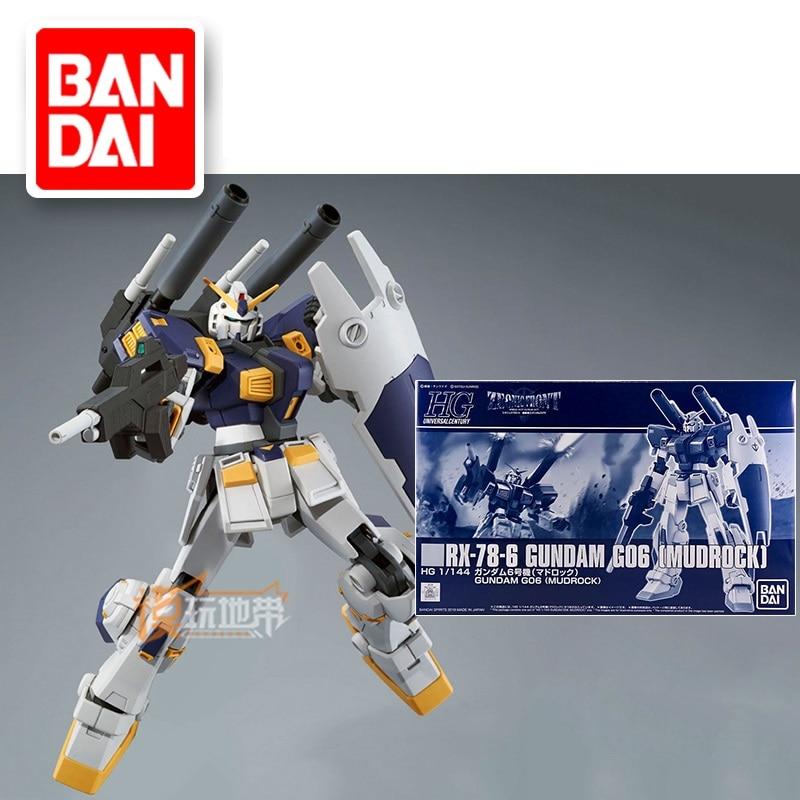 Original Japaness Gundam Model HG 1/144 GUNDAM G06 RX-78-6 MUDROCK Mobile Suit Kids Toys