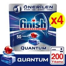 Frete grátis acabamento quantum máquina de lavar louça detergente 4x50 tablet