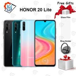 Оригинальный Honor 20 Lite мобильный телефон 6,3 дюйма 4 Гб + 64 Гб Kirin 710F Восьмиядерный Android 9,0 48.0MP смартфон с отпечатком пальца