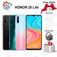 Original Honor 20 Lite Mobile Phone 6.3 inch 4GB+64GB Kirin 710F Octa-core Android 9.0 48.0MP Fingerprint Smartphone