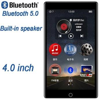 Reproductor MP4 RUIZU H1 de 4 pulgadas con pantalla táctil Bluetooth5.0 Con altavoz incorporado compatible con radio FM reproductor MP3 de grabación de vídeo E-book