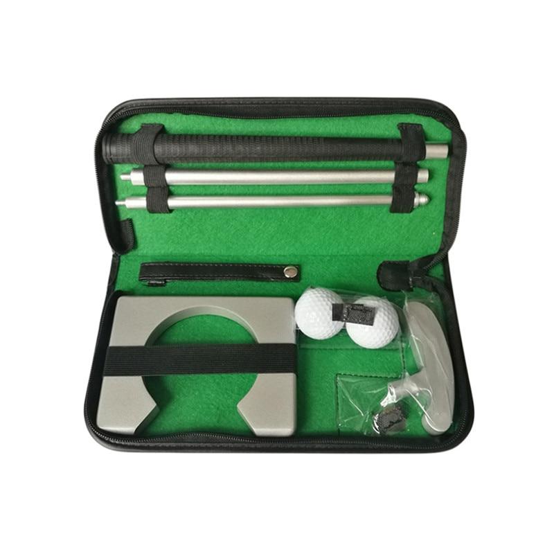 Wonderful! Golf Putter Putting Trainer Set Aluminum Alloy Portable Golfs Ball Holder Rubber Pvc Training Aids Tool Accessories