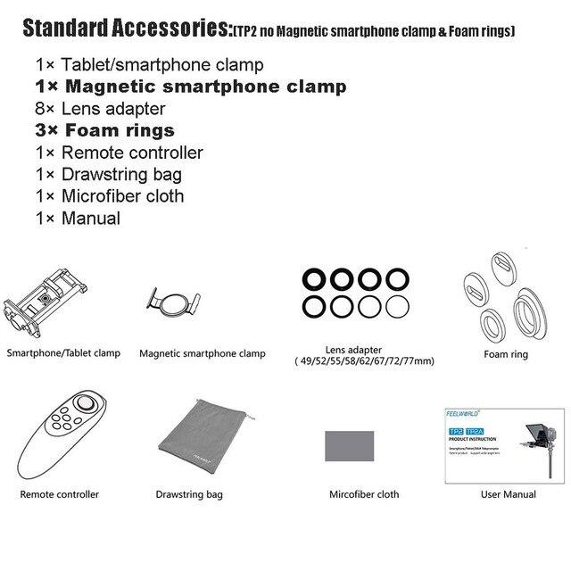 Teleprompter Feelworld 8 Polegadas com Suporte para Ipad - Mini Tablet e Smartphones - Suporta Gravação em Câmeras DSLR e Smartphone 3