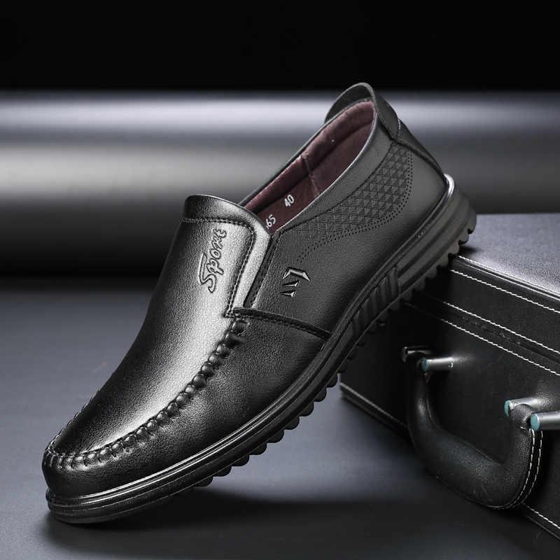 גברים של עור דירות נעלי 2019 גברים עסקים לופרס רך נעלי נהיגה מקרית איש סניקרס zapatos דה hombre משרד דירות