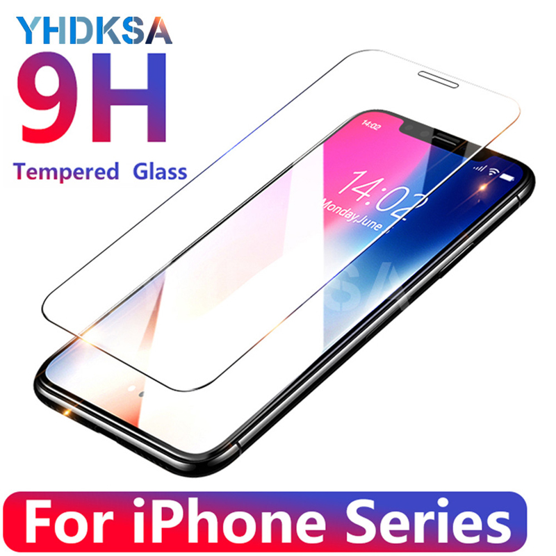 9H HD Tempered <font><b>Glass</b></font> For <font><b>iPhone</b></font> X XS 11 Pro Max XR <font><b>8</b></font> <font><b>Screen</b></font> <font><b>Protector</b></font> 5S SE Protective <font><b>Glass</b></font> <font><b>iPhone</b></font> 7 <font><b>8</b></font> 6 6S Plus X 11 Pro <font><b>Glass</b></font> image