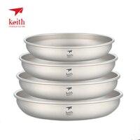 Keith Ultralight титановая тарелка для отдыха на природе, посуда, посуда 30g-70g