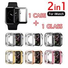 Чехол 2 в 1 + закаленное стекло для apple watch series 6 se