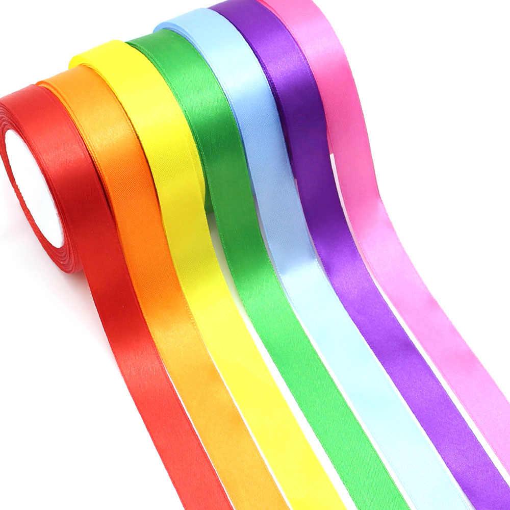 25 Yardas 22 Listón De Colores Cinta De Satén Cintas De Seda Para Cintas De Tela De Lazo Para Artesanías Decorativas Para Boda Embalaje Hecho A Mano Cintas Aliexpress