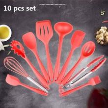Cooking-Set Turner Ladle Spatula Spoon Kitchen-Utensils Silicone Server Slotted Spaghetti