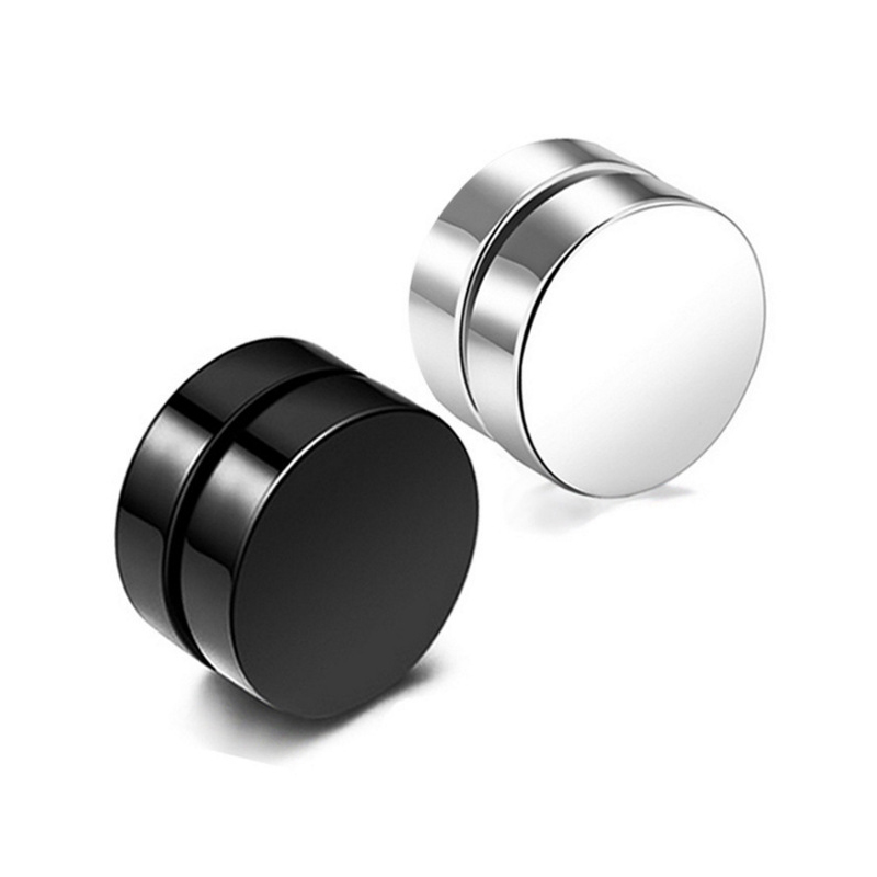 2019 New Punk Mens Strong Magnet Magnetic Ear Stud Set Non