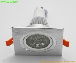 Image 5 - DIY أطقم 6 حزمة مربع الألومنيوم led أسفل تركيب المصابيح حافة ل MR16 GU10 حامل إطار ضياء 50 مللي متر rotable أدى أضواء تركيبات