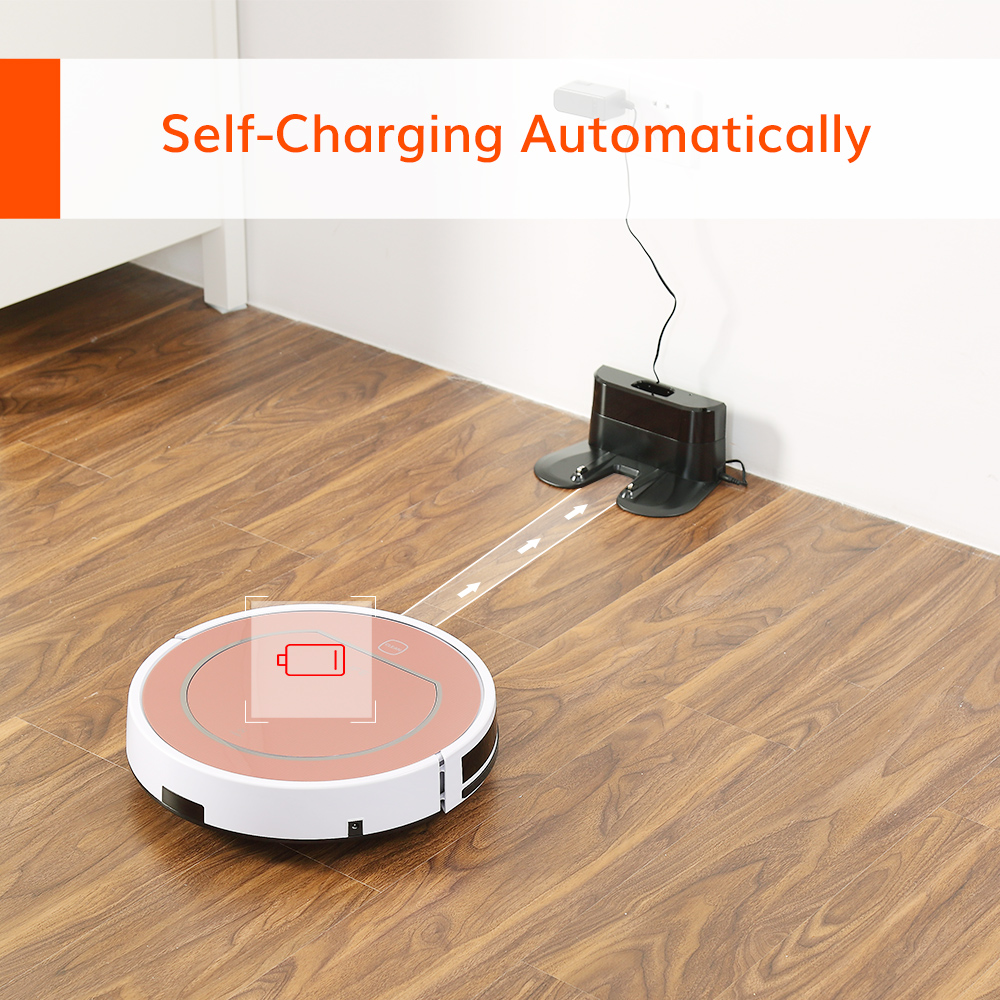 ILIFE V7s Plus Robot Vacuum Cleaner Sweep and Wet Mopping Disinfection For Hard Floors&Carpet Run 120mins Automatically Charge 5