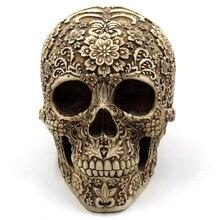 цена Hot Resin Craft Skull Statues Sculptures Garden Statues Sculptures Skull Ornaments Creative Art Carving Statue онлайн в 2017 году